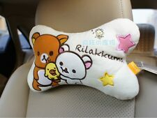 2pcs San-X Rilakkuma Relax Bear Car Seat HeadRest Cushion Neck relax bone pillow
