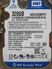 Western Digital 320 gb WD 3200 bpvt - 80 zest 0 DCM: hhmtjhb | 25may2011 disco duro