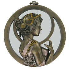 Belle tour miroir mural art déco lady bronze érotique cold cast 01503