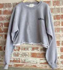 brandy melville J Galt Gray nancy California Embroidered sweatshirt NWT Cropped