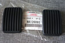 2x OEM Mitsubishi MMC Brake & Clutch Pedal Pad Cover for Mirage Challenger Max