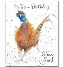 Wrendale Designs IT'S YOUR BIRTHDAY! Have Fun PHEASANT Greeting Card HANNAH DALE