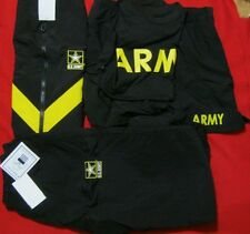 NWT ARMY BLACK APFU UNIFORM ISSUE SET JACKET PANTS &  SS SHIRT SHORTS SMALL REG