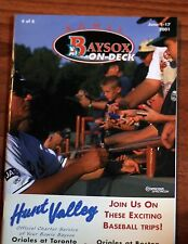 June 1-17, 2001 Bowie Baysox On Deck Program