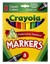 Crayola Broad Line Markers - 8 Classic Colours - 8 pack