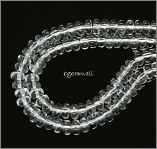 "15.8"" Clear Quartz Rondelle Beads 6mm #78232"