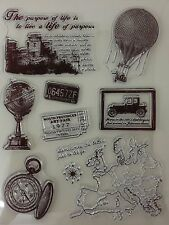 Vintage Travel 2 Clear Stamp Set [No.42]