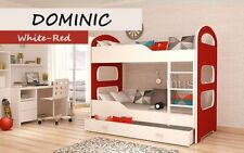 DOMINIC BUNK BEDS KIDS CHILDRENS WITH FREE MATTRESSES AND STORAGE DRAWERS
