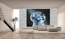 Love Butterfly Graffiti Wall Mural Photo Wallpaper GIANT DECOR Paper Poster