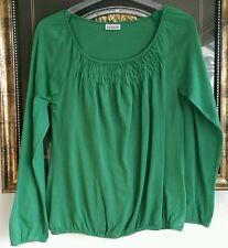 Street One Shirt Blusenshirt grün langer Arm Gr 38