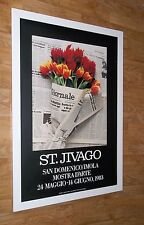 St. Jivago poster - exhibition poster 1983 - 61x91cm, new york botanical poster