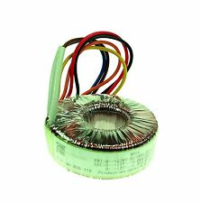 2x15V 225VA Toroidal Transformer Dual Primary Secondary Windings Thermal Fuse UL