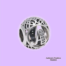 Authentic PANDORA Letter A Alphabet Charm 791845CZ