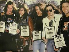 Skid Row, Britny Fox, Double Full Page Vintage Pinup