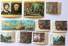 Nicaragua 1986/1987 2 complete sets 13 stamps MNH Colombus discover America NEW