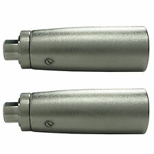 2 PACK Metal XLR 3 pin Male to RCA FEMALE jack Adapter Connector plug