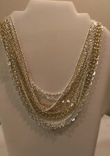 BEAUTIFUL RALPH LAUREN GOLD AND SILVER MULTI CHAIN NECKLACE 2469