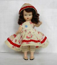 Vintage 1948 NANCY ANN Storybook Doll Brown Hair TO MARKET #120 4 1/2 Inches
