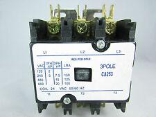 DEFINITE PURPOSE CONTACTOR 25 AMP 3 POLE 24 V-A/C UNITS, HEAT PUMPS, REFRIGER.