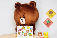 LINE Friends STICKERS Set 4 Naver App Character Decor DIY Accessary Luggage Note