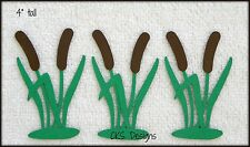Die Cut CAT TAILS Lake Pond Fishing Cattails Scrapbook Page Paper Piecing CKS