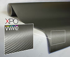 VViViD XPO Gray Carbon Fiber vinyl car wrap 5ft x 5ft decal 3mil paint-protect