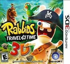 RABBIDS TRAVEL IN TIME 3D (Nintendo 3DS, 2011) - NEW