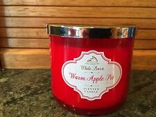 Bath & Body Works White Barn WARM APPLE PIE 3 Wick Candle Up to 65 hrs burn