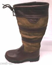 Shires Charlbury Long Boots Leather Waterproof Country Boots UK 5 EURO 38 WIDE