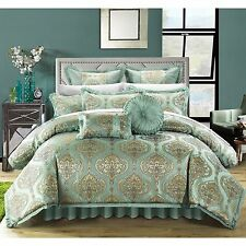 Chic Home Giovani Jacquard Motif Fabric 9-piece Comforter Set