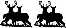 (2) Deer Vinyl Decals Buck and Doe in Grass Hunting Car Truck Laptop Rifle