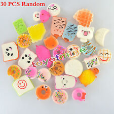 30pcs/Set Random Kawaii Squishies Soft Panda Bread Cake Buns Phone Straps