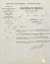27 IVRY-LA-BATAILLE QUINCAILLERIE DAUPLAY BECUE COURRIER 1920 ?