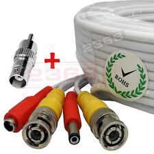 150 Feet Video Power BNC RCA Cable for Swann CCTV Security Cameras - White