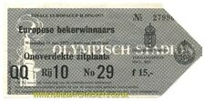 Reproducción 1977 Hamburgo Anderlecht Copa Taza de ganadores final billete [RMT]