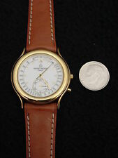 Michel Herbelin Mens Watch Gold Leather France ETA Swiss 16Jewel Chronograph 226