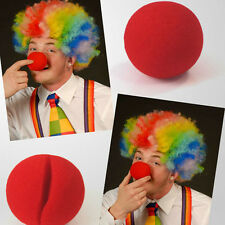 10Pcs Red Sponge Ball Red Clown Magic Nose Kids Adult Halloween Fancy Party Toys