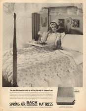 1965 vintage Ad SPRING AIR Back Supporter Mattress Breakfast in bed 121916