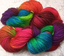hand dyed merino 200 yds sport wt rainbow yarn great adirondack scarves shawls