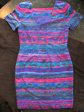 LIZ CLAIBORNE - Multicolor patterned Silk Dress - shift - Size 8