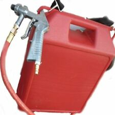 Portable Air Sand Blaster 30lb Capacity Steel Nozzle Rust Removal Cars 32de