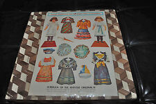 Antique Embossed Cut-Out Paper Dolls & Costumes Replica style Merrimack Pub NEW