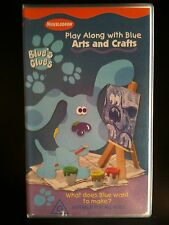 BLUE'S CLUES ~ PLAY ALONG WITH BLUE ~ ARTS AND CRAFTS ~ VHS VIDEO