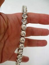 miu miu Headband Crystal Pearl Hair Jewel New