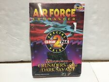 PC MS-DOS CD ROM GAME WIZARDRY CRUSADERS OF THE DARK SAVANT AIR FORCE COMMANDER