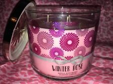 Bath & and Body Works 14.5 oz scented Candle 3 Wick 3-Wick Winter Rose Lim Ed.