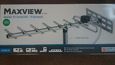 MAXVIEW  MOBILE TV AERIAL KIT-9 ELEMENT INC MAST AND CABLES