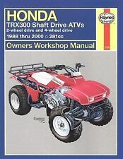 1988-2000 Honda TRX300 Shaft ATV Repair Manual 94 1995 1996 1997 1998 1999 4390