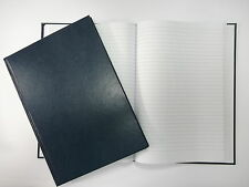 MANUSCRIPT BOOK A4 - 96 LEAF (192 PAGES) LINED HARDBACK NOTEPAD + FREE P&P!