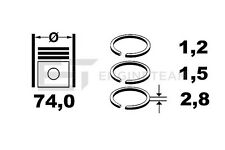 Kolbenringsatz / Piston Ring Kit - SUZUKI 1,3 (SWIFT I, II, SAMURAI, SJ 413)